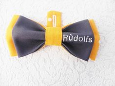 Rudolfs, Embroidered bow tie with Rudolfs name tag, handmade by Betolli