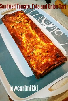 Sundried Tomato, Feta and Onion Tart