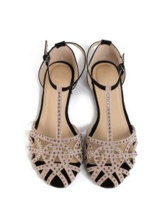 Cute flats for spring! Jeweled Netted Flat Sandals - 2020AVE