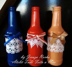 Trio de Garrafinhas Decorativas