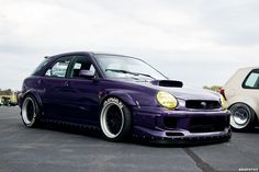 Nice Beefy Fitment on this Subie..