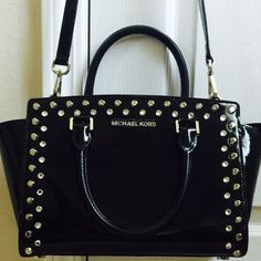 Michael Kors Medium Selma studded With Studs and stones, holiday special. Bag is in great condition with minimum wear. No scratches, small stain at the bottom, not much noticeable. price is firm. No trades  Michael Kors Bags Crossbody Bags
