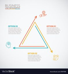 Thin line flat triangle for infographic Royalty Free Vector Thin line flat triangle for infographic Royalty Free Vector Diagram Design, Graph Design, Ppt Design, Sports Graphic Design, Graphic Design Tips, Chart Infographic, Infographic Templates, Powerpoint Design Templates, Concept Diagram