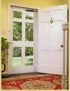 Front Door And Storm Door Painted Red Style For The HomeFront Door And Storm Door Painted Red Style For The Wooden Storm DoorSHOP NOW. Exotic and Domestic Hardwoods, Plywoods, Lattice, Wood Shutters, Drapery Products Glass Storm Doors, Wood Storm Doors, Interior Barn Doors, Exterior Doors, Exterior Remodel, Exterior Paint, Patio Doors, Entry Doors, Front Entry