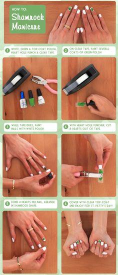 Mani How-to Shamrock Nails