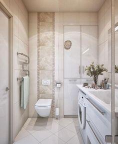 Bathroom, Glamor Bathroom Sink And cupboard Ideas For Amazing Deluxe Small Bathroom with washing machine. #bathrooms #laundry