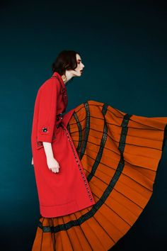 COULEURS Erik Madigan Heck for NY MAG featuring Marc Jacobs 2 Pocket Coat and pleated skirt