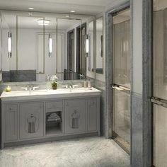 Gray Master Bathroom
