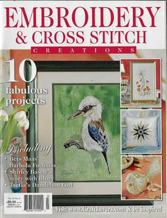 Cross Stitch Magazines, Cross Stitch Embroidery, Dandelion, Baseball Cards, Frame, Projects, Pattern, Crafts, Painting