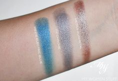 make up for ever artist shadow swatches - me216, i112, me554