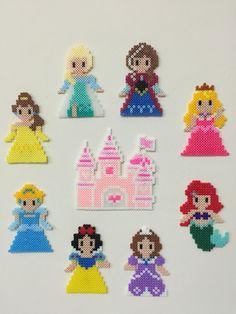 Disney princess and castle cross stitch. Disney princess and castle cross stitch. Disney princess and castle cross stitch. Disney princess and castle cross stitch. Perler Bead Designs, Perler Bead Templates, Hama Beads Design, Diy Perler Beads, Hama Beads Patterns, Perler Bead Art, Beading Patterns, Pearler Beads, Hama Disney