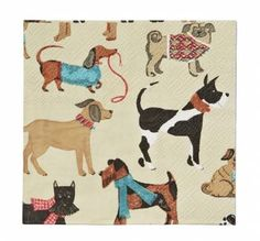 Hound Dog und Catwalk Collection Papier-Servietten klein: Hunde - Hound Dog