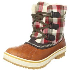 Sorel Plaid Boots.