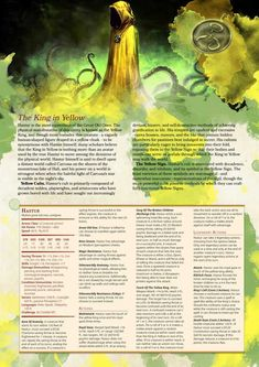 Post with 16948 views. [Homebrew] Lovecraftian Monsters: Hastur, The King in Yellow Dnd Dragons, Dungeons And Dragons 5e, Dungeons And Dragons Homebrew, Dnd Stats, Call Of Cthulhu Rpg, Eldritch Horror, Dnd 5e Homebrew, Dragon Rpg, Dnd Monsters
