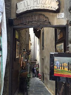 A side street in Cortona, Tuscany