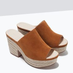 ZARA - COLLECTION AW15 - LEATHER WEDGE SHOE