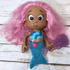 "Bubble Guppies Mattel 2012 Singing Molly 9"" Mermaid Doll Toy & Guitar Hair Brush  | eBay"