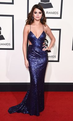 Selena Gomez at 2016 Grammys Red Carpet