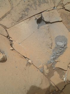 Mars Curiosity Drilling