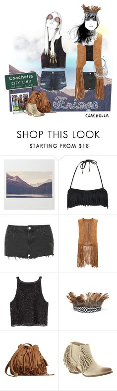 """""""Coachella 2016"""" by shoelover220 ❤ liked on Polyvore featuring Topshop, Monsoon, Polaroid, Coconuts, fringe, coachella and coachella2016"""