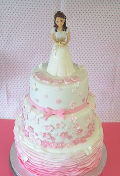 tartas de comunion niña - Buscar con Google Communion Cakes, Celebration Cakes, Themed Cakes, Amazing Cakes, Give It To Me, Baby Shower, Mayo, Celebrities, Desserts