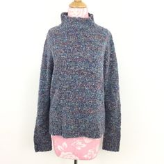 """Oversized mock sweater Coldwater Creek speckled pullover sweater. Size S. Acrylic/nylon/poly/spandex. Measurements laid flat: bust 22""""/ length 24.5"""". Coldwater Creek Sweaters Cowl & Turtlenecks"""