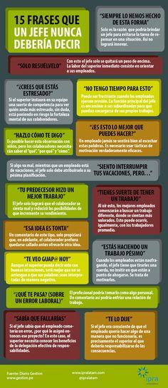 Las 15 frases que un #jefe nunca debería decir.
