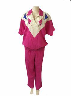 Vintage Liz Baker Sport Pink Short Sleeve Blouse and Pant Set Size 1x | eBay