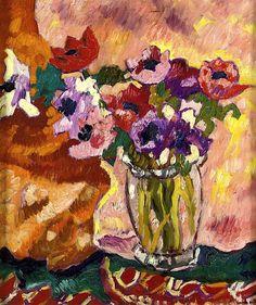 Crystal Vase, Anemones Louis Valtat - 1928