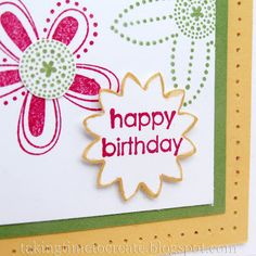 Flowers, Flowers! A bright and colorful handmade birthday card.