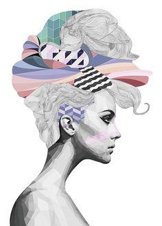 Brent Rosenberg graphic portrait art print