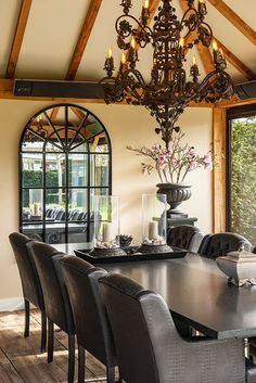 Elegant classic custom wrought iron chandelier
