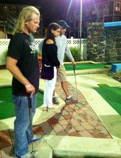 Serious mini golf @Wildwood Wildwood Beach, Beach Items, Baseball Field, Golf, Mini, Places, Funny, Funny Parenting, Hilarious