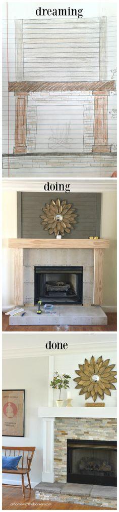 DIY Shiplap Fireplace Wall - Sweet Threads Design Co.   DIY ...