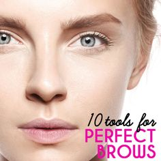 Great brows make a world of difference. Click to discover the best tweezers, brow gel, stencils, and more for keeping your brows in top shape. #eyebrows #brows