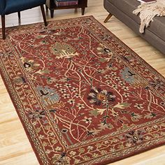 Shop for EORC Hand-tufted Wool Rust Morris Rug (7'9 x 9'9). Get free shipping at Overstock.com - Your Online Home Decor Outlet Store! Get 5% in rewards with Club O!
