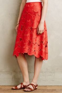 Cynthia Rowley Lace Bouquet Skirt #anthrofave