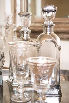 Arte Italica decanters and stemware. Linda McDougald Design | Postcard from Paris Home