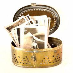 Vintage Brass Trinket / Cricket Box (c.1970s)