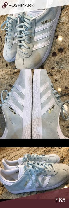 Gazelle Sneaker ADIDAS Runs large; use next size down. Unisex: Built on a unisex shoe construction; signature full fit. Used once very clean like new mint color adidas Shoes Sneakers