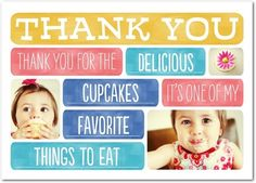 Personalized Thank You cards from treat.com