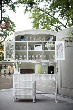Simple, Elegant, Shabby Chic Wedding - Reception,  Drinks,  Marlysa John