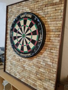 Hand Crafted Custom Woodworking, Decor and Apparel by HoosierWoodbox Dartboard Backer, Dartboard Ideas, Price Board, Cork Wall, Game Room Decor, Game Rooms, Bottle Cap Art, Man Cave Home Bar, Basement Flooring