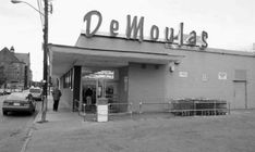 Demoulas Superrette - Store opened in MAR at 80 Dummer Street (corner of Dummer & Market Sts. The store was redesigned in 1954 to the design seen in this photo.