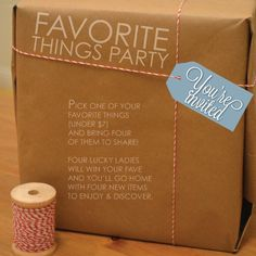 anniemade // Custom Invitation: Favorite Things Party