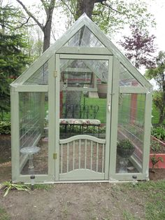 """Blogger said """"My version of the cattle panel greenhouse. Easy to make and only cost about 100 dollars total"""""""