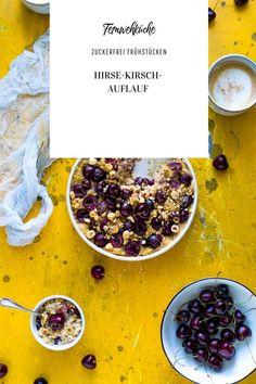 Sommer auf dem Teller mit diesem leckeren und zuckerfreienHirse-Kirschen-Auflauf. Das Rezept lässt sich entweder als leckeres Dessert, als süße Hauptspeise oder als einfach als Frühstücksauflauf vernaschen und ist super einfach in der Zubereitung. Ganz egal ob ihr für dieses Rezept frische Kirschen oder TK-Kirschen verwendet, dieserHirse-Kirschen-Auflauf kommt bei groß und klein gut an! #hirserezepte #hirse #rezepte #zuckerfrei #zuckerfreifrühstücken #gesunderezepte