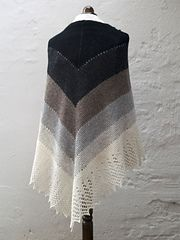 Ravelry: Transition Stash-buster Shawl pattern by Karen S. Lauger. I've made this shawl, and I think it's fabulous!