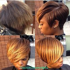 I love this transformation done by @cestchicconcepts! That color and that cut…
