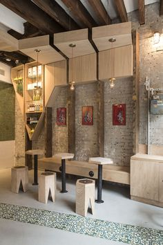 Iconic Cafe Design by Studio Vural Cafe Bar, Cafe Restaurant, Modern Restaurant, Restaurant Chairs, Restaurant Interior Design, Modern Interior Design, Interior Architecture, Commercial Design, Commercial Interiors